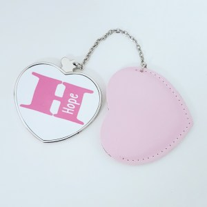 Heart shaped compact mirror