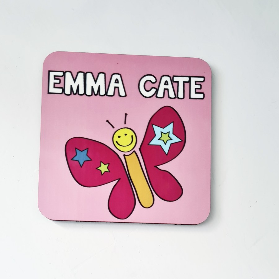 Coaster with Butterfly