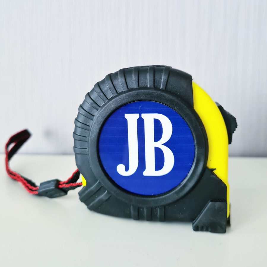 Tape measure with initials