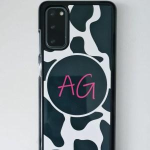 Cow print phone case