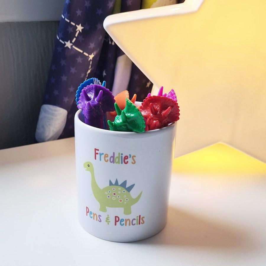 Dinosaur Pencil Pot