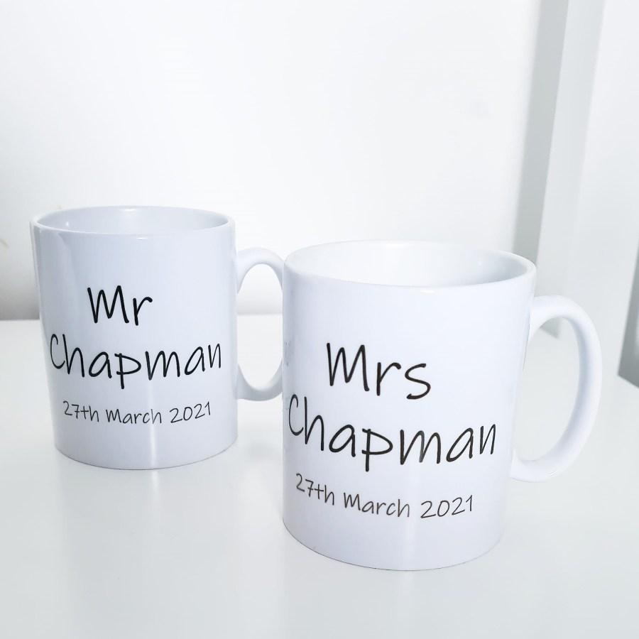 Mr and Mrs Wedding Mugs