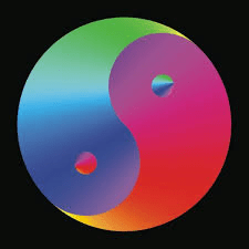 harmony colorful yin yang