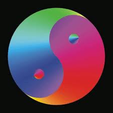harmony colorful yin yang