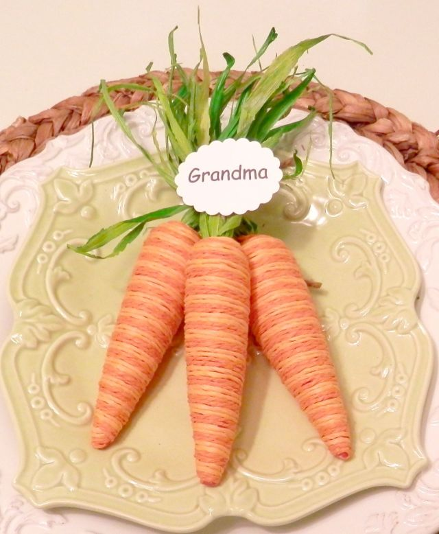Carrot Place Cards