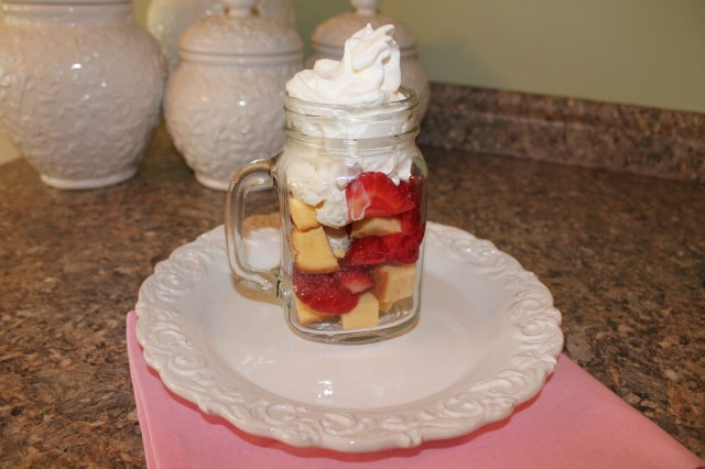 Strawberry Shortcake Sundae in a Jar!
