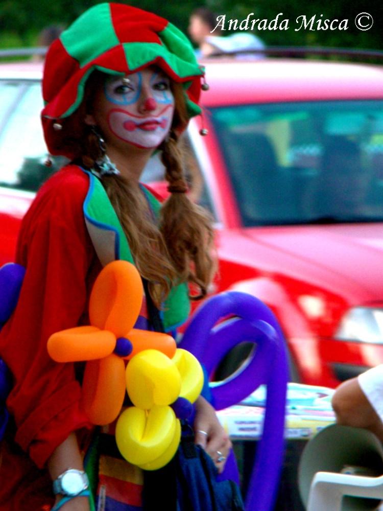 Clown Girl on the Street no 1