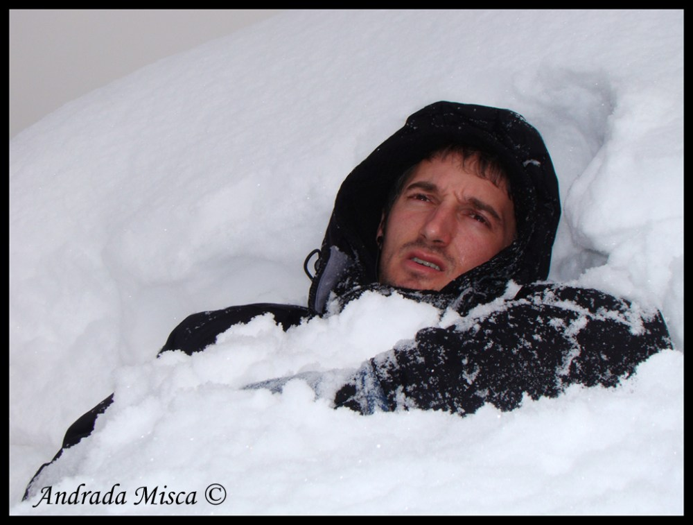 Man Buried in Snow