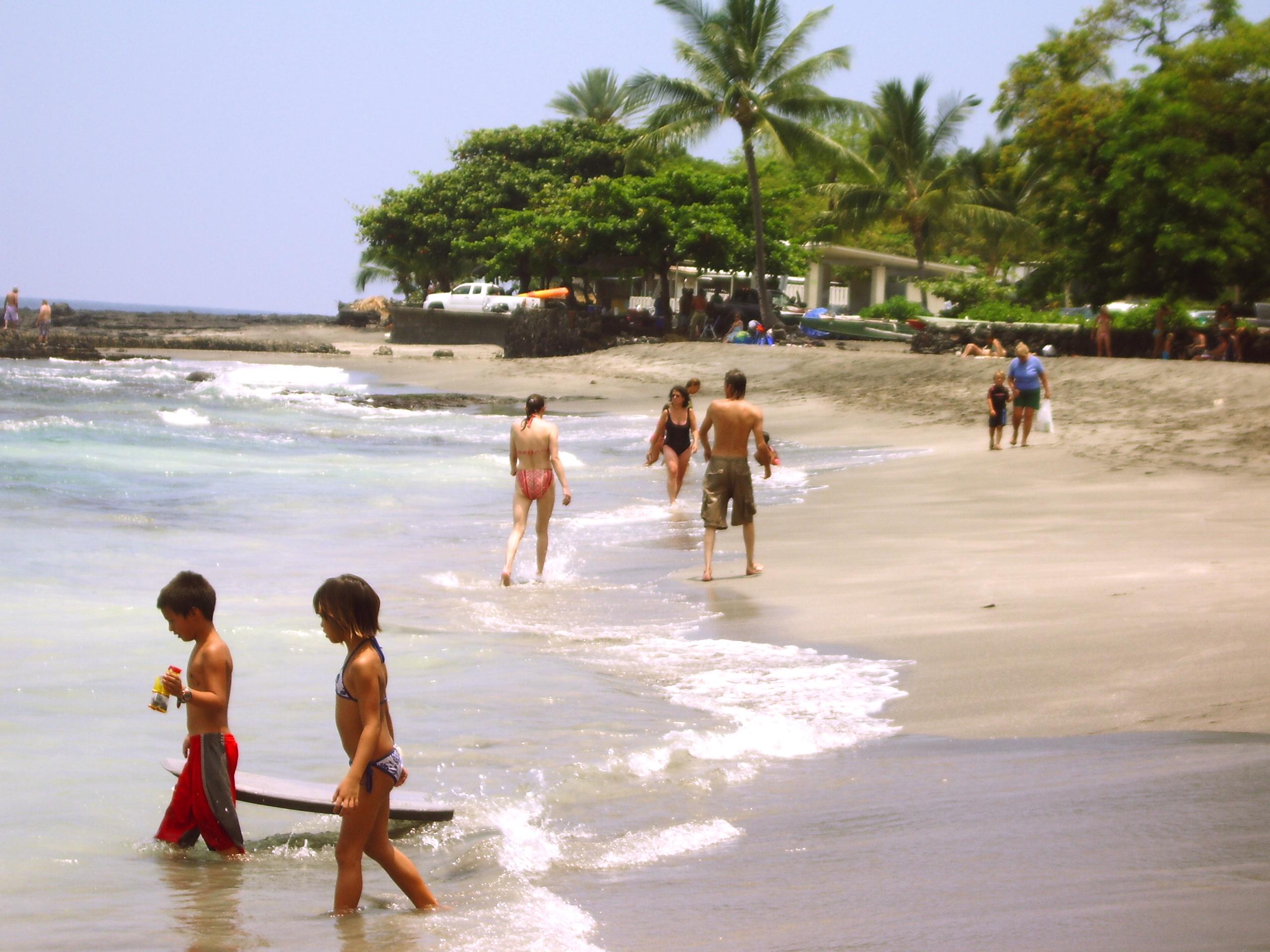 Ho'okena Beach, South Kona: Photo by Donald MacGowan