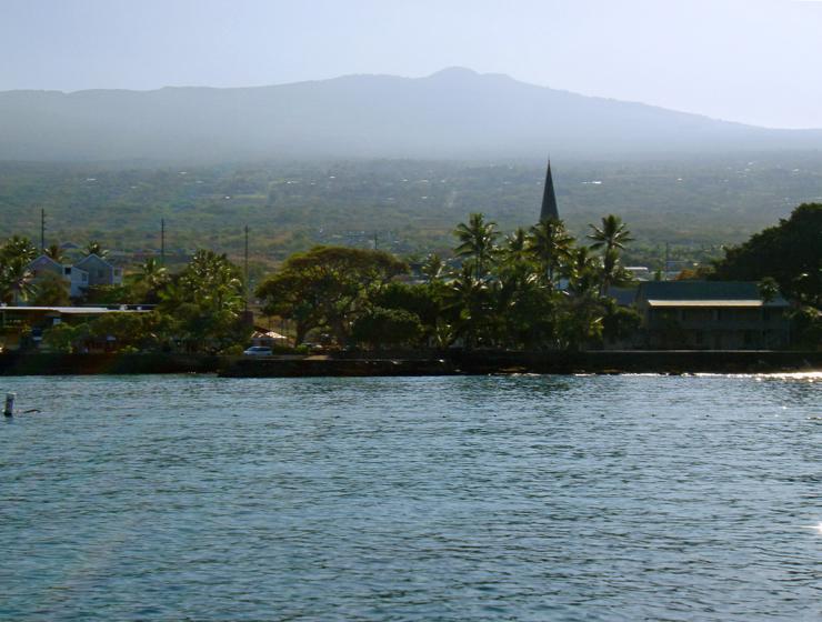 Kamehameha's view of his taro fields, Kailua Kona, Hawaii: Photo by Donnie MacGowan