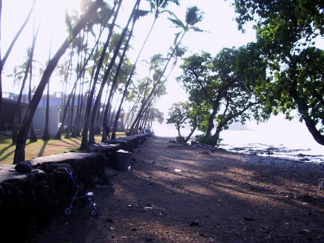 The Seawall at Hale Halawai Beach, Kailua Kona, Hawaii: Photo by Donnie MacGowan