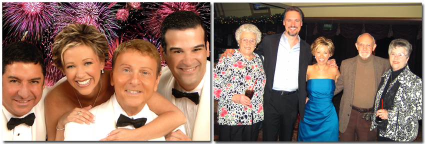 """1) """"Shades of Sinatra"""" Promotional Photo; 2) With the family AFTER the show!"""