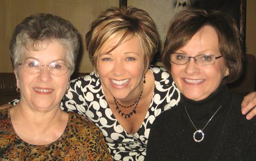 Janet Rogers (mom), Me, Karen Murphy