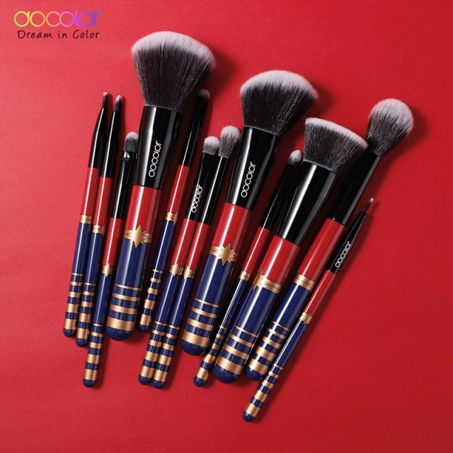 Docolor 12PCS  New STARLIGHT GODDESS Brushes Set With , Synthetic Hair.