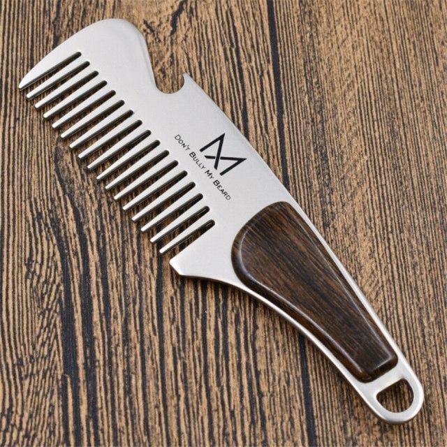 Portable Steel Mustache Brush