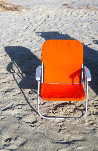 the orangest beach chair I ever did see