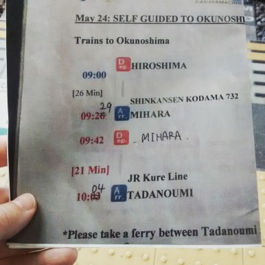 Directions to Okunoshima