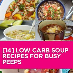 14 Delicious Low-Carb Soups. Yuuuhummy! From yummy Burger Soups to drool worthy Crockpot Recipes. I promise you will love this #lowcarb recipe collection