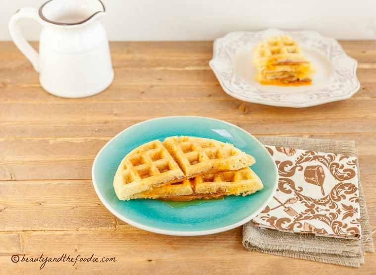 LOW CARB HAM CHEESE STUFFED WAFFLES