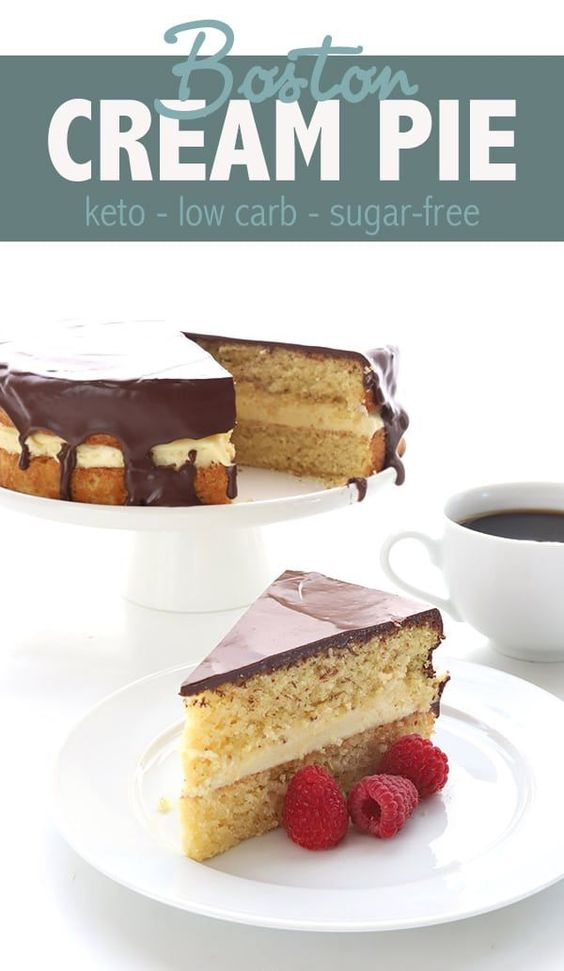 BOSTON CREAM PIE – LOW CARB RECIPE
