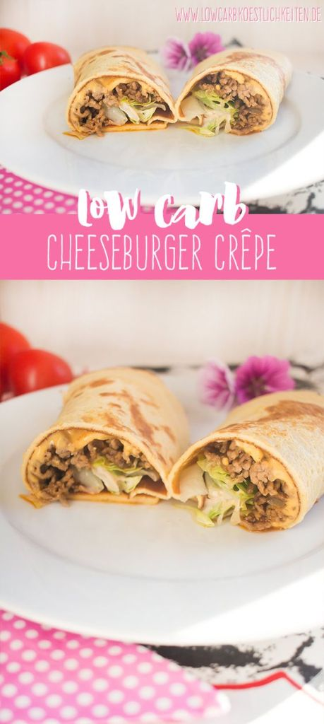 Low Carb Cheeseburger Crêpe