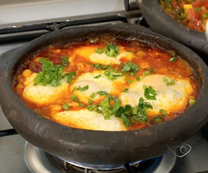 Moqueca de ovo low carb