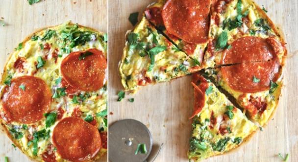 Pizza de Omelete Low Carb