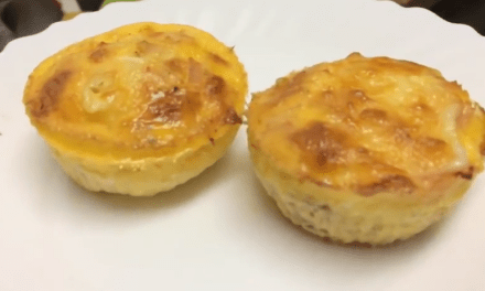 Bolinho salgado low carb, rápido, prático e delicioso