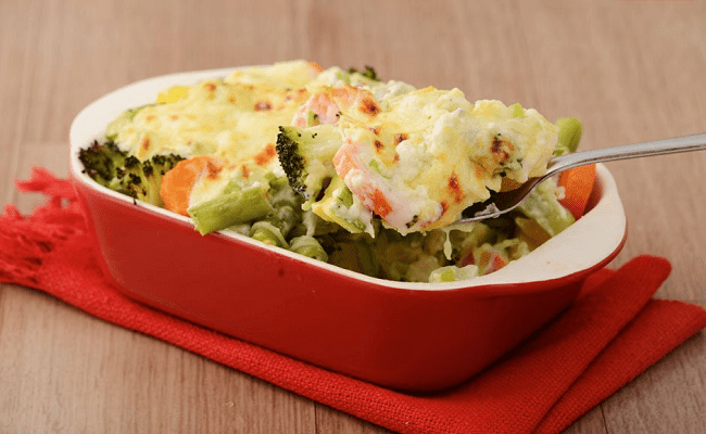 Legumes gratinados low carb