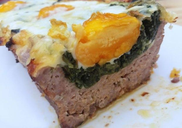 Receita bolo de carne com espinafre low carb