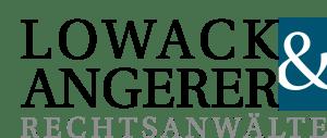 Logo des Unternehmens Lowack & Angerer aus Bayreuth / Kulmbach, Rechtsanwälte aus Oberfranken, Geschäftsführer Gert Lowack