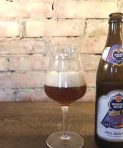 Ølflaske med glas