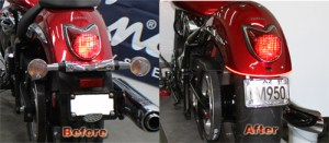 VStar 950 LED Brake Light Kit  Low and Mean