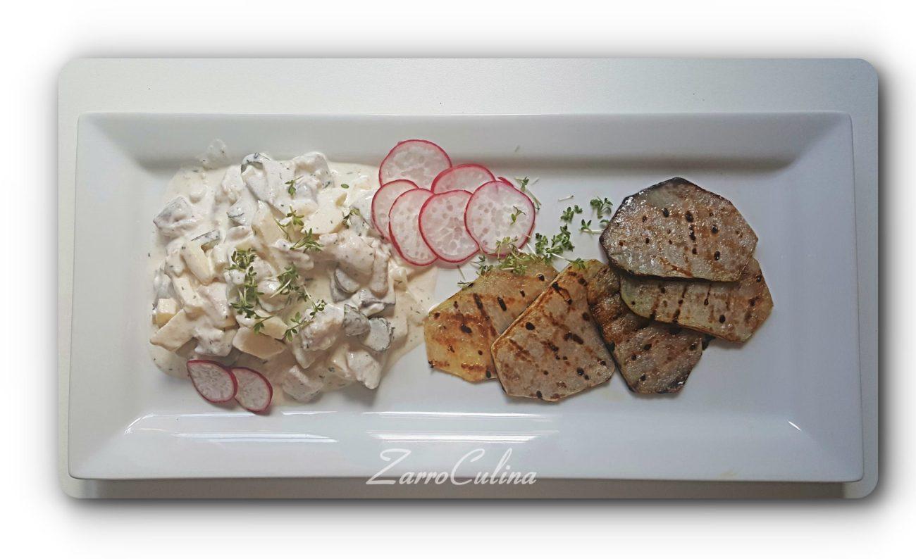 Matjessalat mit gegrilltem Kohlrabi - Titelbild