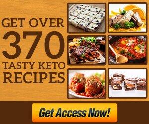 Access to 370 tasty Keto Recipes
