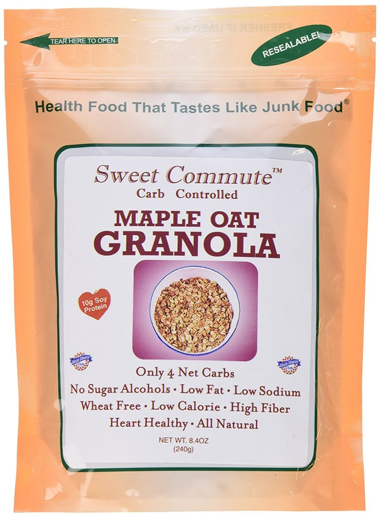 91emhtYWqeL. SL1500  - Dixie Carb Counters Sweet Commute Carb Controlled Maple Oat Granola - No Sugar Alcohols!