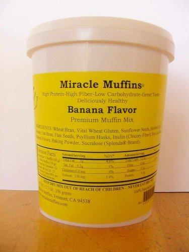 413v2DOLX5L - Miracle Muffins Mix - Banana - Make 12/36 muffins - Splenda