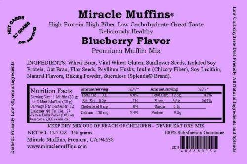 51WGGPW97AL - Miracle Muffins Mix - Blueberry - Make 12/36 muffins - Splenda