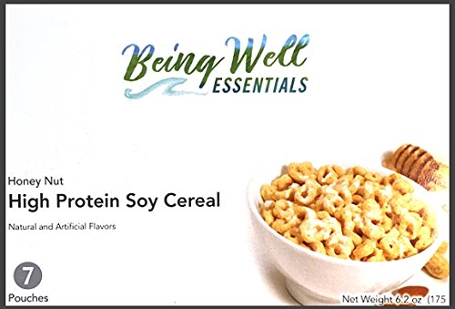 41mmj1ZthzL - Being Well Essentials High Protein Soy Cereal Honey Nut (7 Pouches)