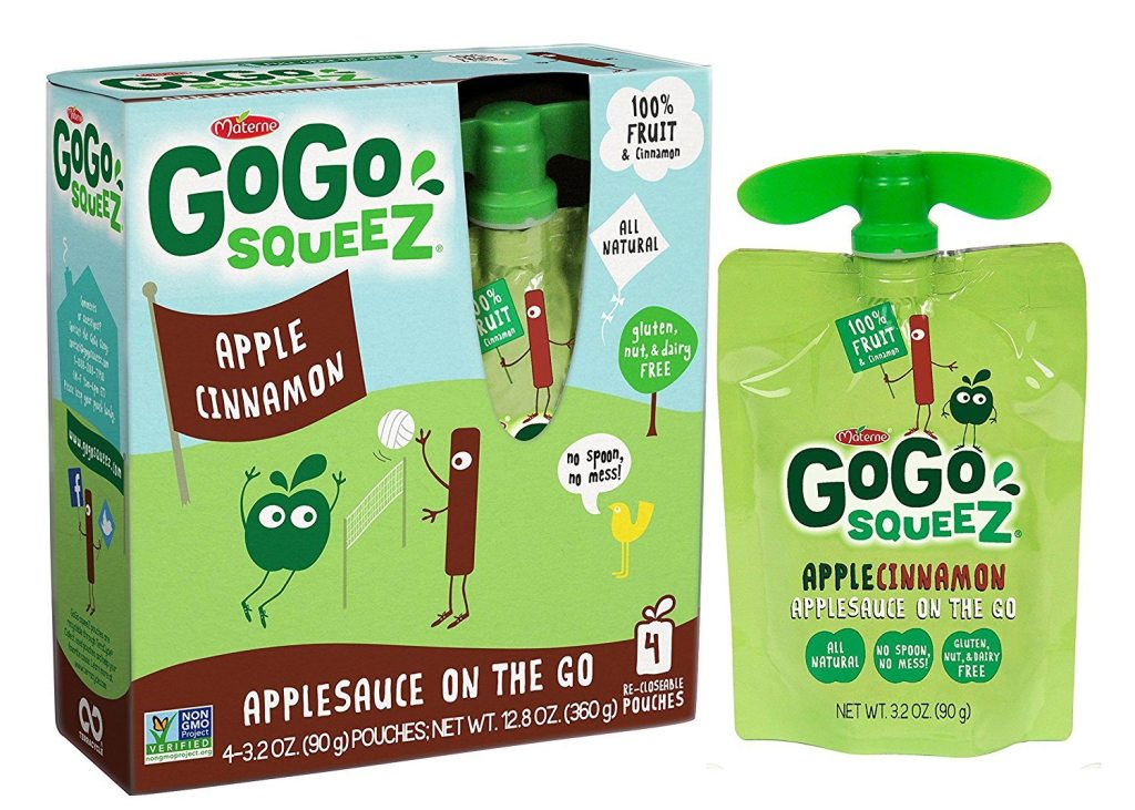 91XRX TJKGL. SL1500  - GoGo Squeez Applesauce on the Go, 3.2-Ounce Pouches (Pack of 48)