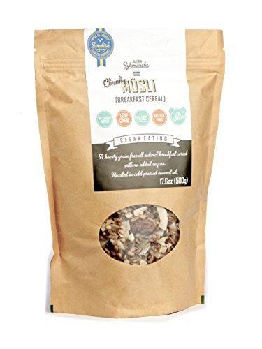 41h N1pcRyL - KZ Clean Eating - Swedish Breakfast Cereal - Low Carb Paleo - 500g (17.6oz) - Gluten free - No added sugar