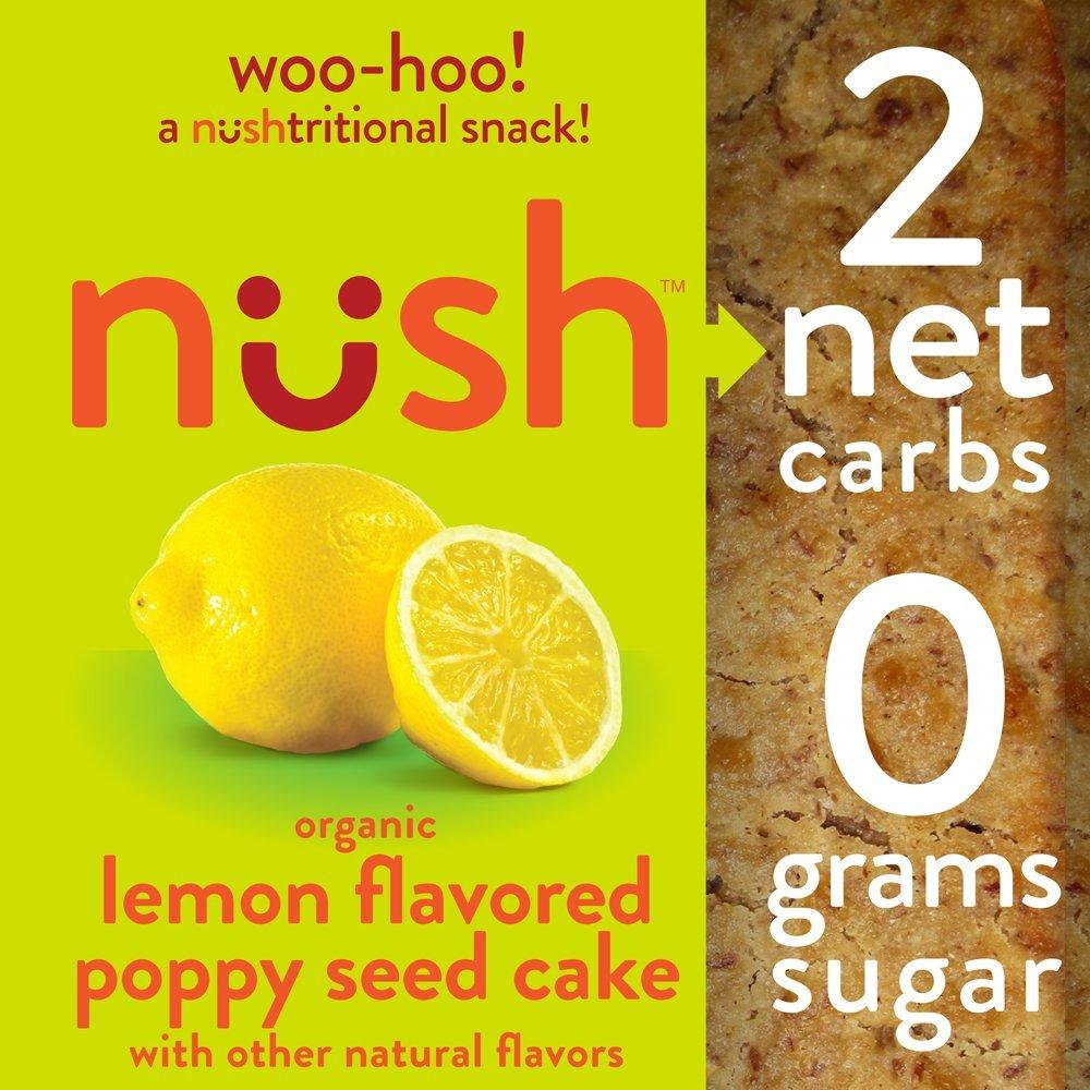 71KhaXZEi0L. SL1000  - Lemon Poppy Seed Breakfast Cakes, 6-Pack Box, 2 Net Carbs, Gluten-Free, 0 Grams Sugar, Organic