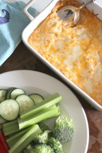 Quick and Easy Low Carb Buffalo Chicken Dip. Perfect recipe for game day or any day type of snack.