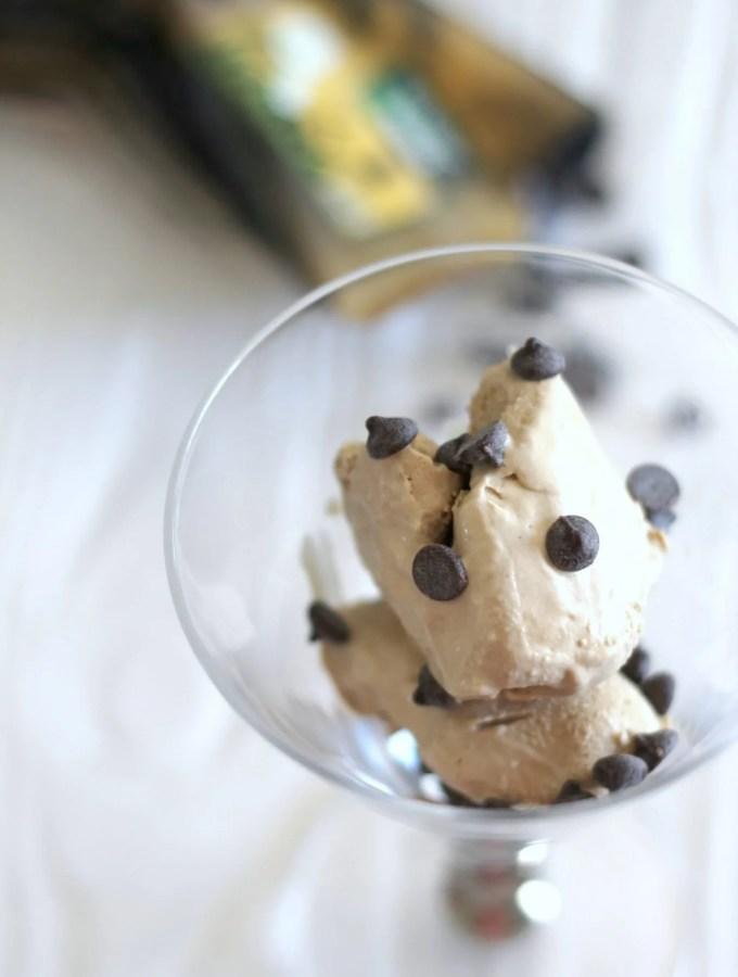 Homemade low carb coffee ice cream