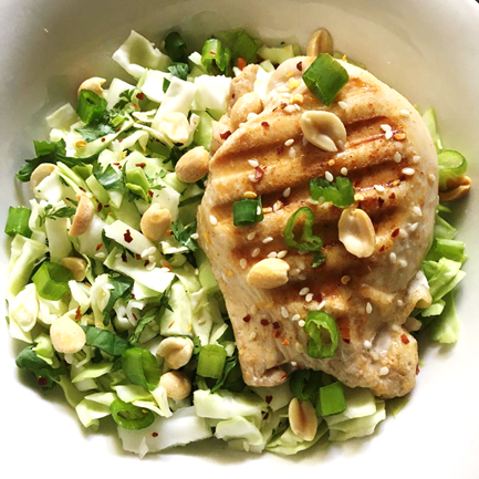 low carb asian chicken salad