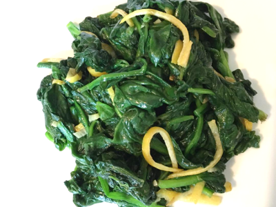 Lemon Garlic Spinach