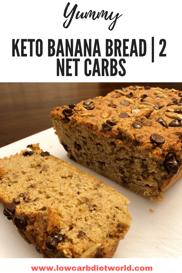 KETO Banana Bread | NO SUGAR ADDED 2 NET CARBS
