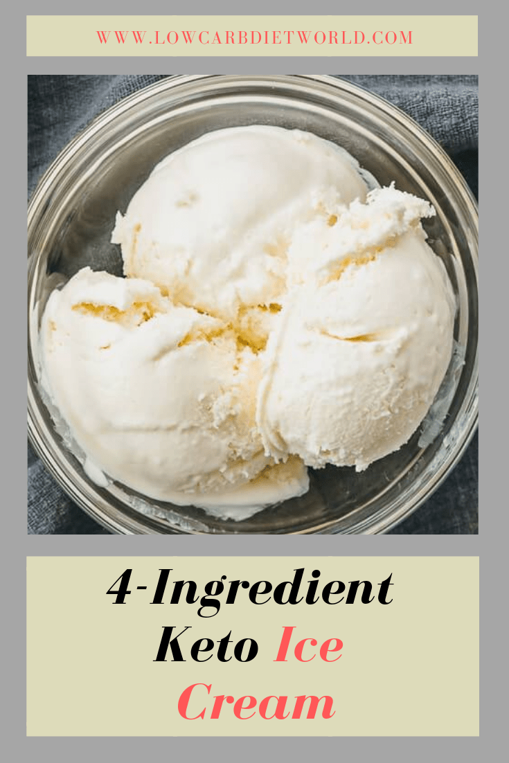4-Ingredient Keto Ice Cream