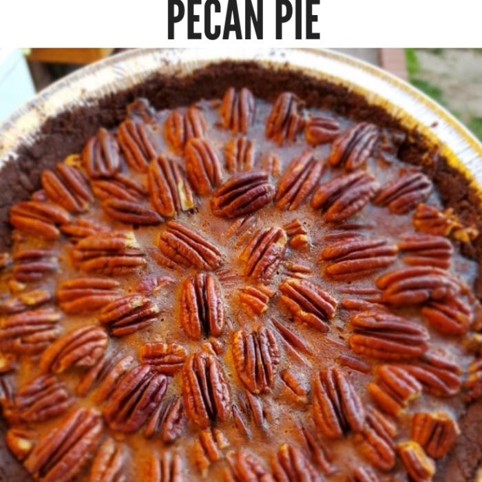 Keto Chocolate Crust Pecan Pie
