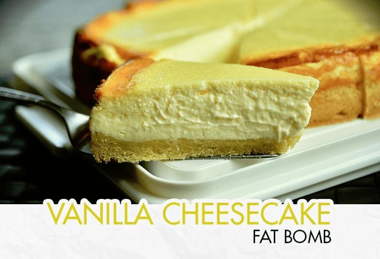 Keto Vanilla Cheesecake Fat Bomb